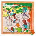 Kinder-Holzpuzzle mit Rahmen