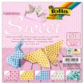 Faltblätter Sweet - Maße 15 x 15 cm