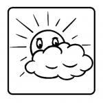 Leistungssteigerungsstempel – Sonne mit Wolke