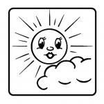 Leistungssteigerungsstempel – Sonne mit wenig Wolke
