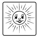 Leistungssteigerungsstempel – Sonne strahlend