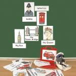 Bild- und Wortkarten - London