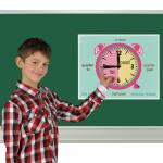 Klassenlernuhr - für den Englisch - Unterricht
