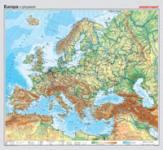 Europa, physisch (mit Küste Nordafrikas)