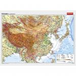 Wandkarte Ostasien VS physisch / RS politisch