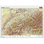 Wandkarte Schweiz physisch