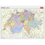 Wandkarte Schweiz politisch