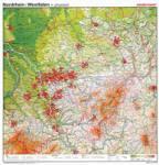 Nordrhein-Westfalen, VS physisch / RS Umrisskarte