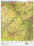 Rheinland-Pfalz/Saarland, VS physisch / RS Umrisskarte