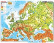 Europa, VS physisch / RS Umrisskarte