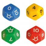 Zwölfflächige Schulwürfel - in 4 verschiedenen Farben
