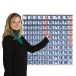 Hunderter-Tafel, klein 60 x 60 cm