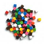 Gewichtswürfel, 1 g, farbig sortiert