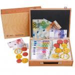 Großer Euro-Geldsatz im Holzkoffer
