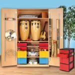 Modulus Musikschrank Modell K2 mit 3 Schubladencontainer