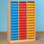 Modulus Klassenzimmer-Regale - mit 42 kleinen Schüben