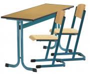 Zweier-Schülertisch, Modell MT mit PU-Kanten