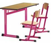 Zweier-Schülertisch, Modell T mit ABS-Kanten