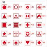Symbolbogen, rot