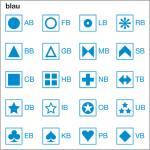 Symbolbogen, blau