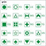 Symbolbogen, grün