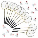 Badminton-Schulsport-Set II - 12 Schläger und 12 Bälle