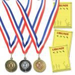 Satz mit 3 Medaillen