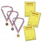 1 Satz oder 10 Sätze mit 3 Medaillen