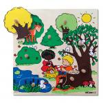 Steckpuzzle Thema: Wald