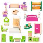 Puppenhaus Möbel-Set