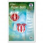 Mini-Paper-Balls - rot/weiß