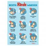 """Plakat """"Richtig Hände waschen"""""""