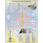 Laborgeräte des Chemikers   Einzeltransparent