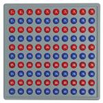 Schubi Abaco 100 mit Zahlen - rot/blau