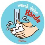 """""""Wasch deine Hände"""" Aufkleber"""