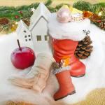 Kleiner Nikolausstiefel aus Pappe