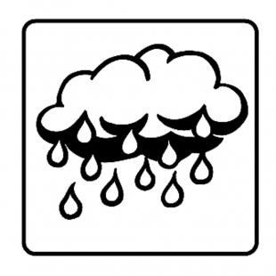 Leistungssteigerungsstempel – Regenwolke
