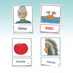 Lautgetreue Lesedosen 1–4  - Arbeitskarten