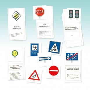 Arbeitskartensatz Verkehrszeichen