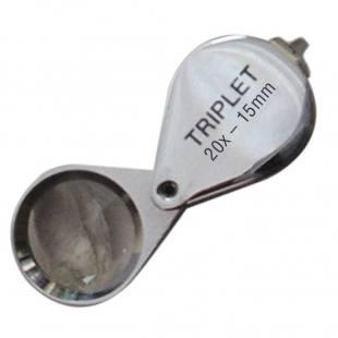 Präzisionseinschlaglupe Ø 15 mm, 20x achromatisch