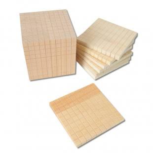 Würfelsatz-Zehnersystemsatz aus Holz