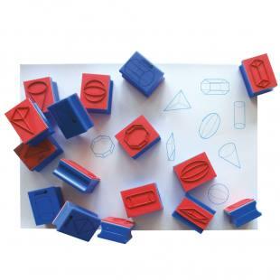 16-teiliger Stempelsatz A in Plastikbox