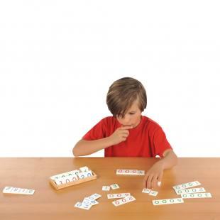 Zahlenkarten aus Holz