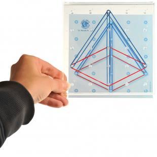 Arbeitskarten für Geobrett 4 transparent