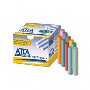 ATLA Compact Hartkreide rund - 10-farbig sortiert