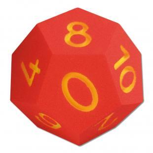 12-flächiger Zahlen-Würfel – rot