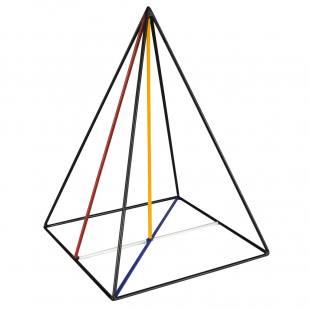Quadratische Pyramide Stahlmodell