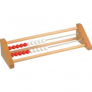Schüler-Rechenmaschine 1-20, rot/weiß