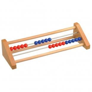Schüler-Rechenmaschine 1-20, rot/blau
