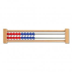 Schüler-Rechenrahmen 1-20, rot/blau